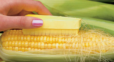 silk removing corn on the cob brush